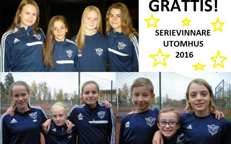 Serievinnare Utomhus 2016
