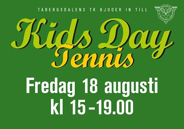 Kids Day – flera nya testade att svinga racketen…!