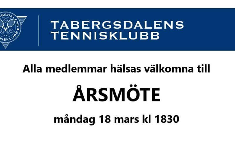 TaTKs Årsmöte 2019…!